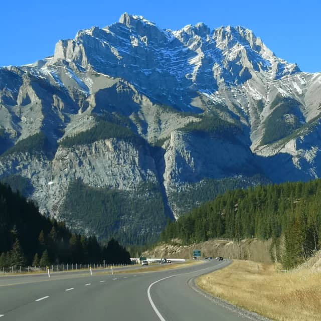 The drive into Banff National Park