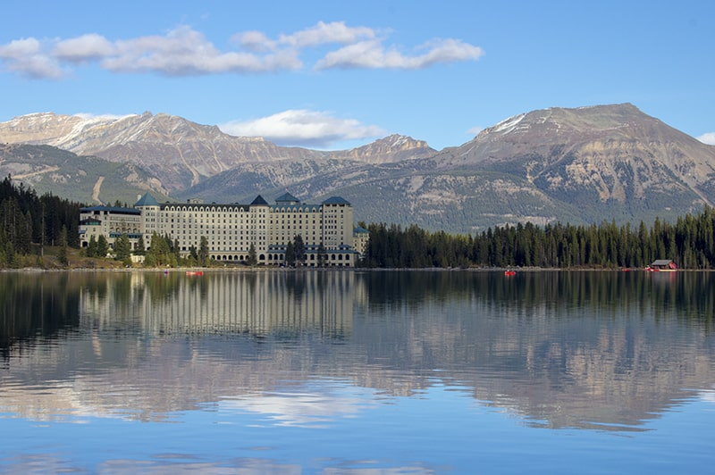 A view of the Fairmont Chateau Lake Louise.