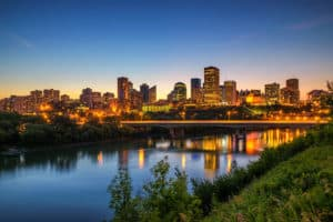 Edmonton Alberta Skyline at dusk