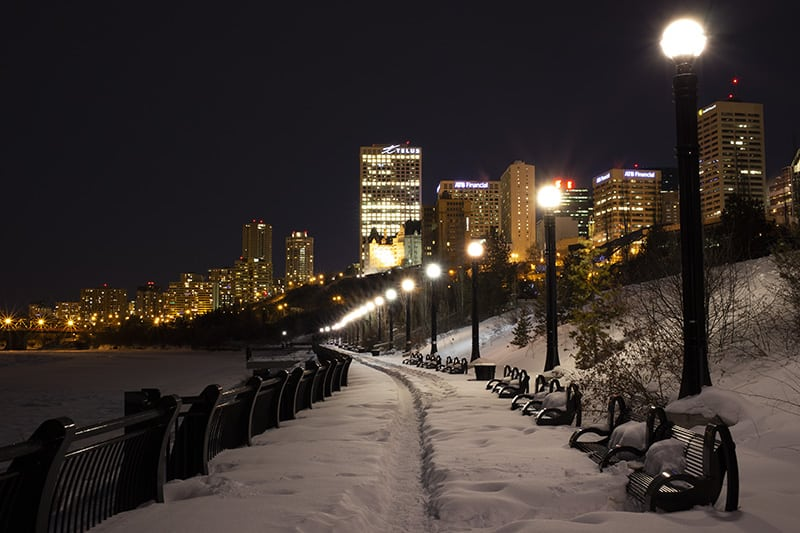Winter in the Edmonton River Valley
