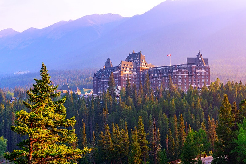 The majestic Banff Springs Hotel