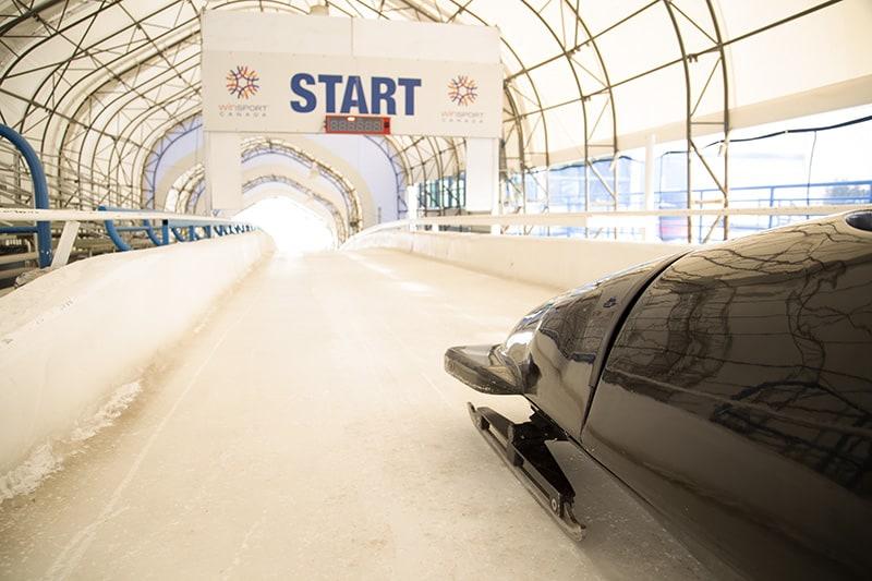 The bobsled run in Calgary Alberta