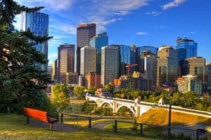 Calgary Downtown in the summer