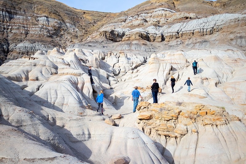 Hiking in Drumheller Alberta and Canadian Badlands