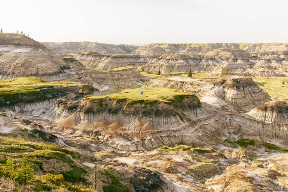 Hiking in Alberta Badlands