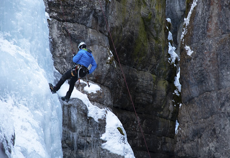 Ice Climbing in Jasper National Park