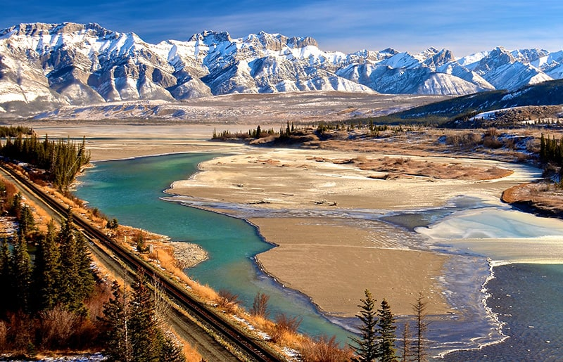 A view of Jasper National Park