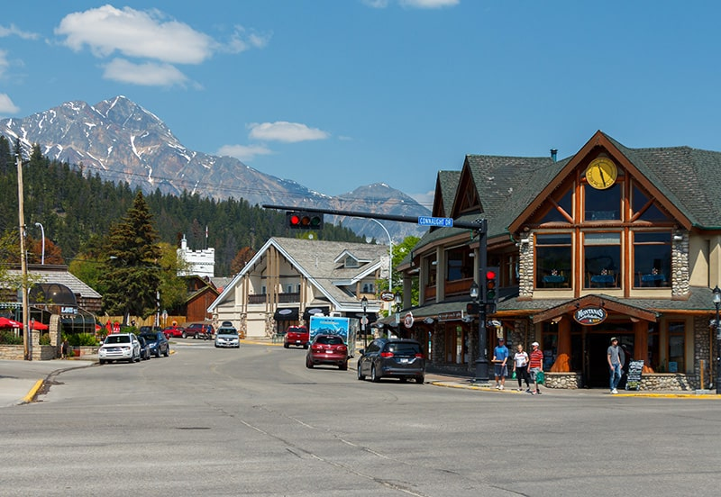 A view of downtown Jasper, Alberta.