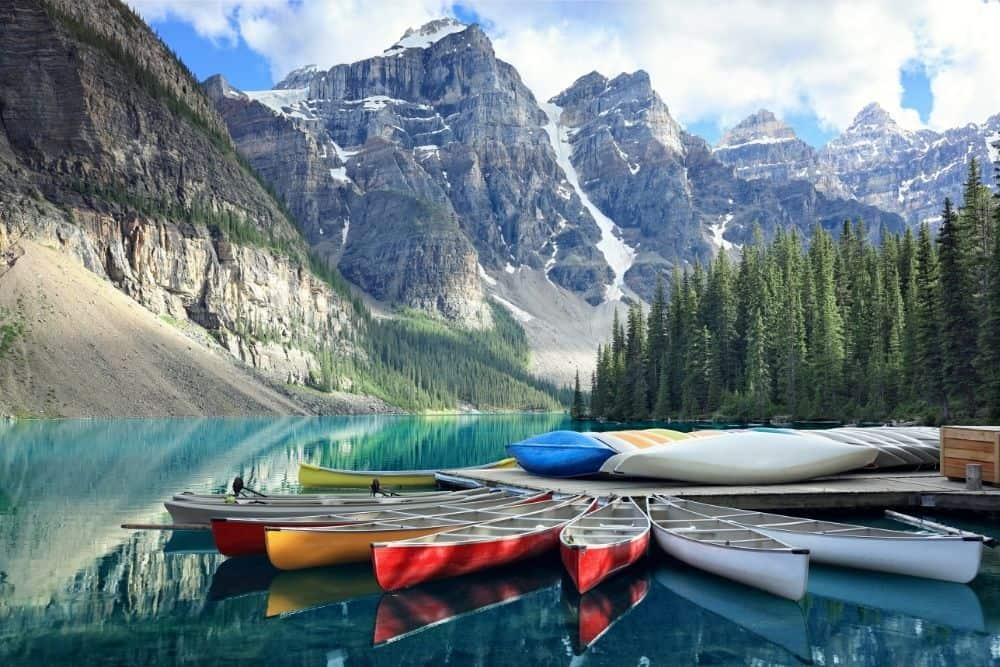 Morraine Lake in Alberta