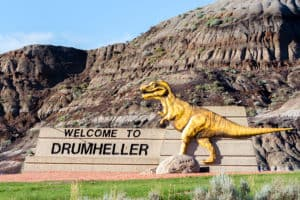 Welcome to Drumheller Sign