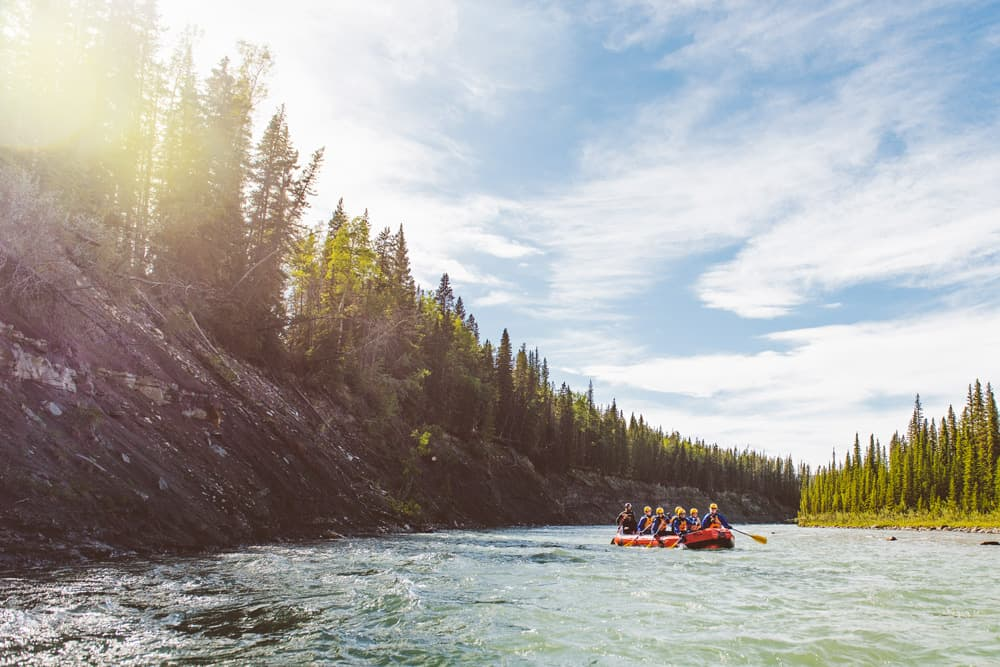 A day trip from Calgary - add some excitement with a Mukwah Rafting Tour on the Panther River near Sundre