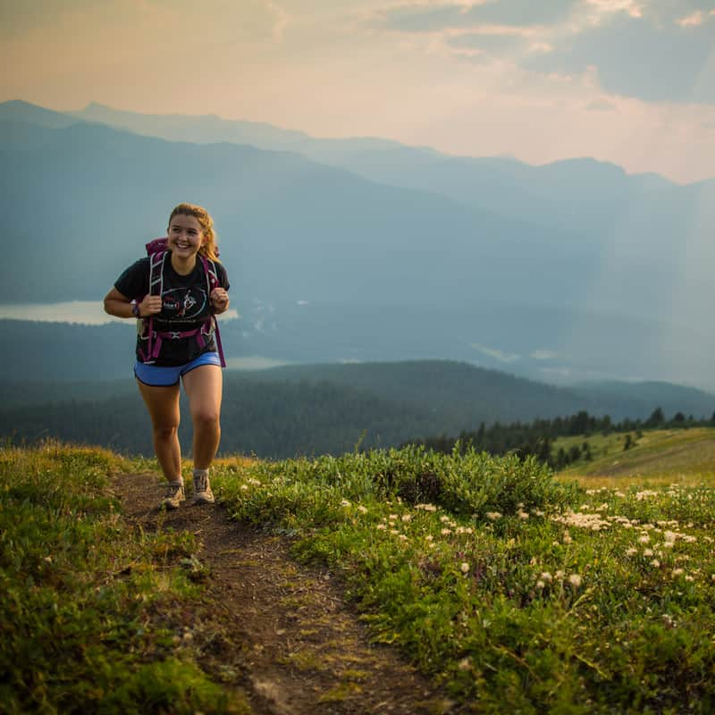 Parks Canada Woman Hiking Jasper National Park