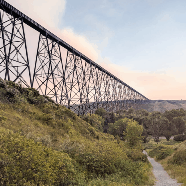 Train Bridge in Lethbridge, Alberta