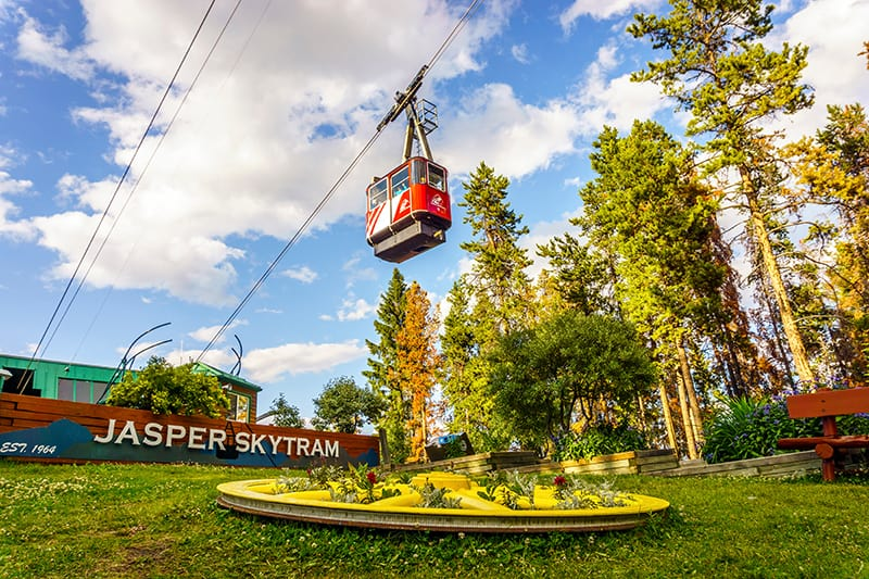 Start your hike in Jasper by riding the Jasper Skytram