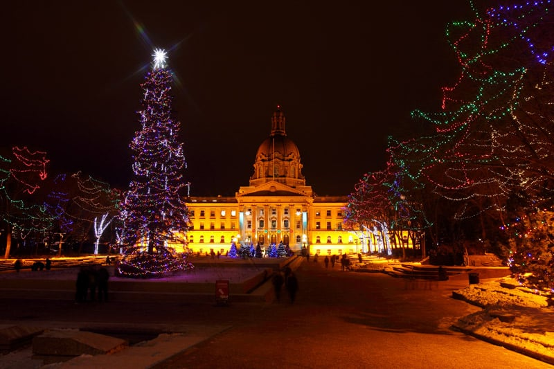 Alberta Legislature Grounds in winter