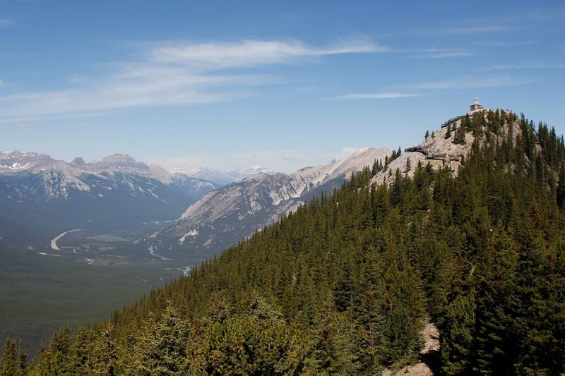 On top of Sulphur Mountain in Banff National Park