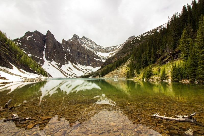 Lake Agnes in Banff National Park