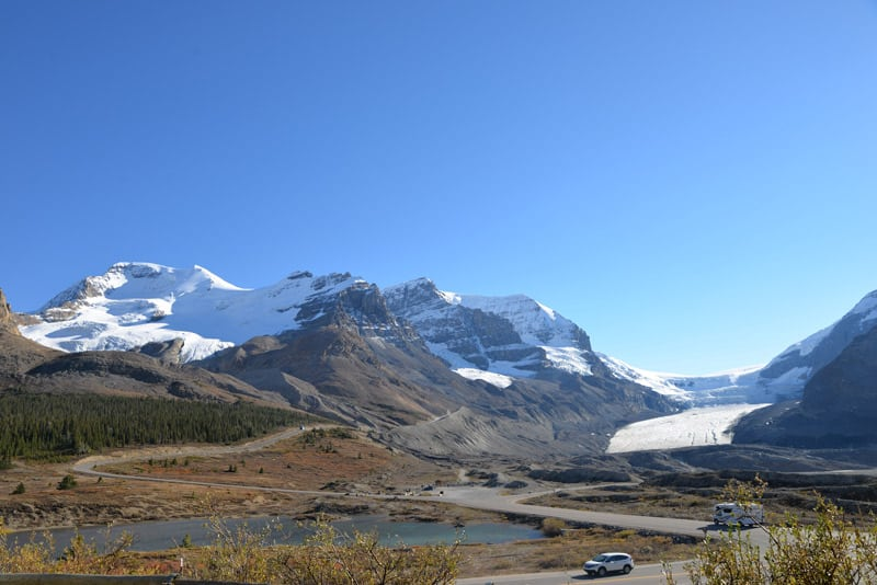 View of the Icefields Parkway