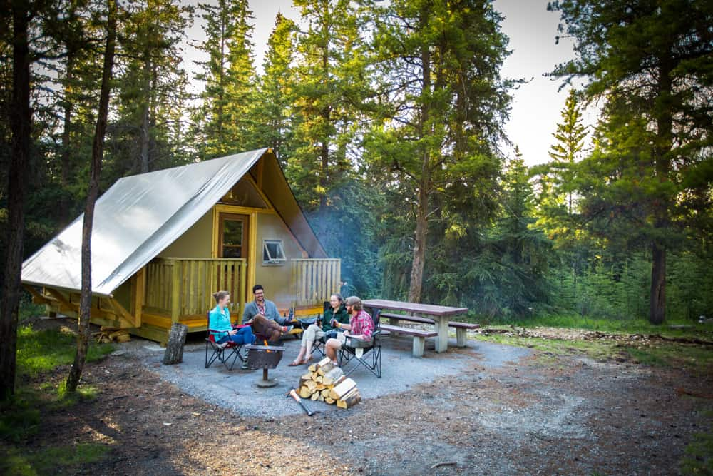 Comfort camping at Whistlers Campground in Jasper, Alberta