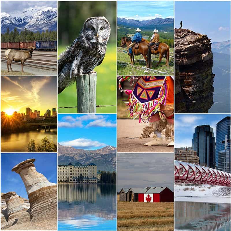 10 Beautiful Travel Puzzles of Alberta