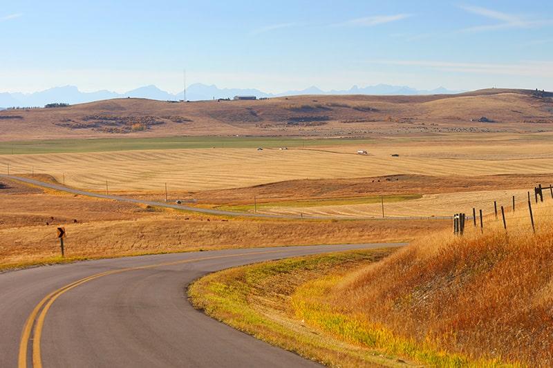 Road trip in the foothills of Alberta