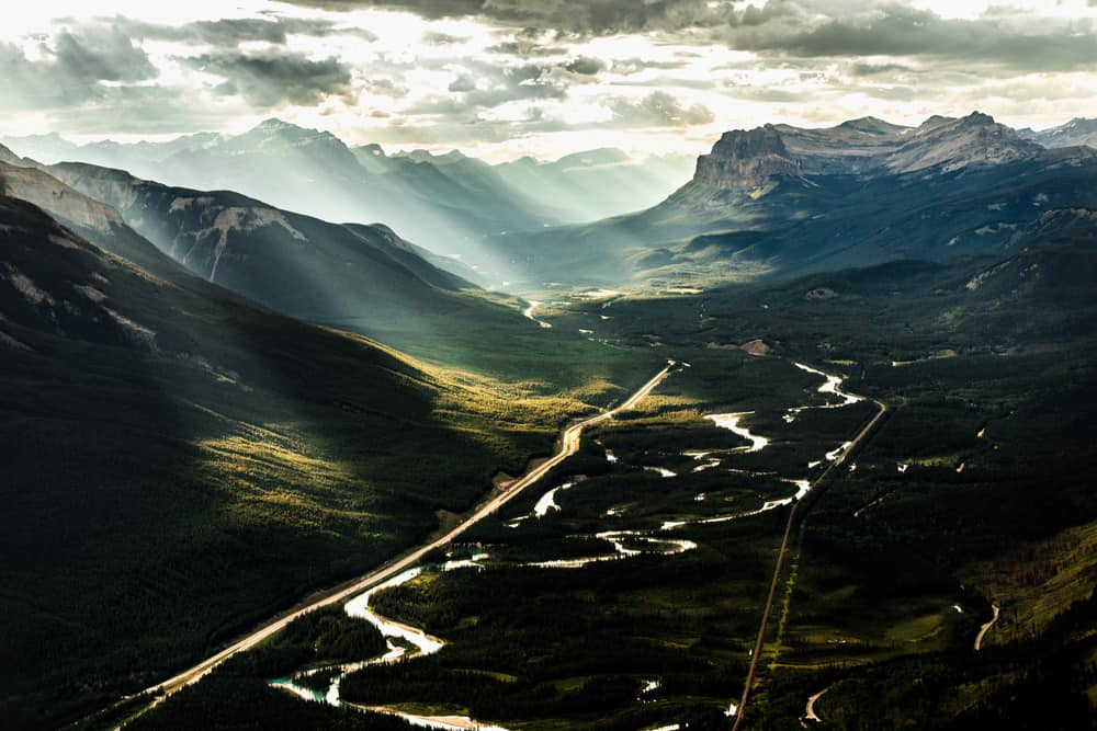 Bow Valley Parkway in Banff National Park, Alberta