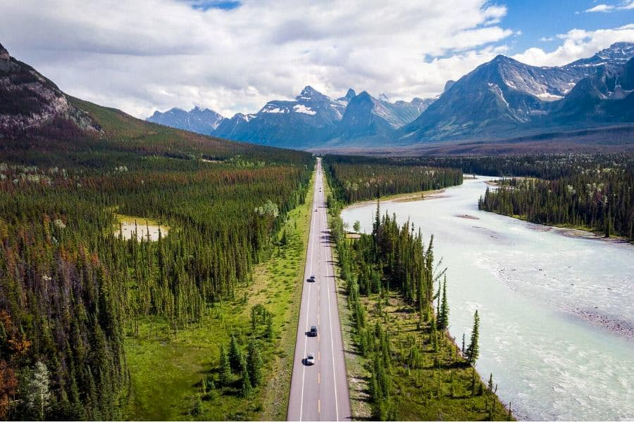 Icefields Parkway from above
