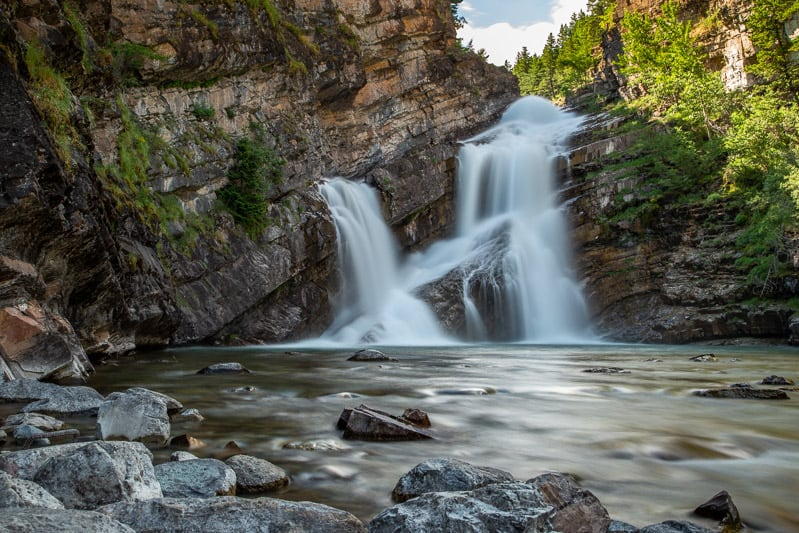 Cameron Falls in Waterton, Alberta