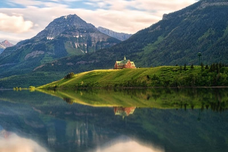 Prince of Wales hotel in Waterton Alberta