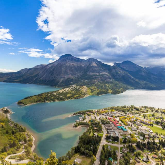 View from Bears Hump hike in Waterton
