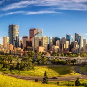 A view of downtown Calgary