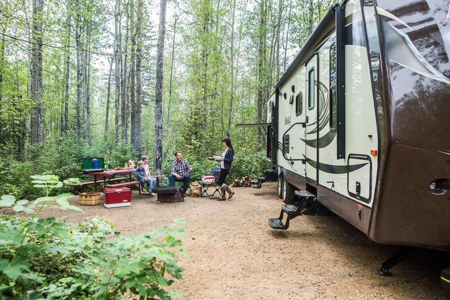 Camping in Lesser Slave Lake Provincial Park