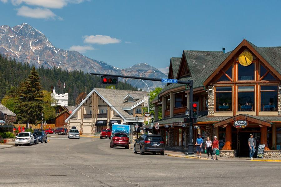 A view of downtown Jasper, Alberta