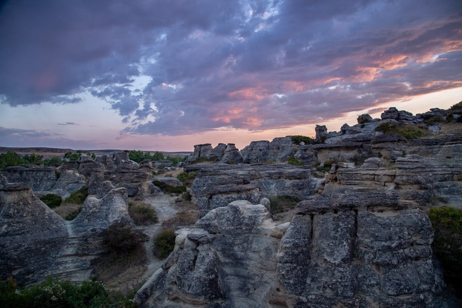 Sunset from Writing-on-Stone Provincial Park