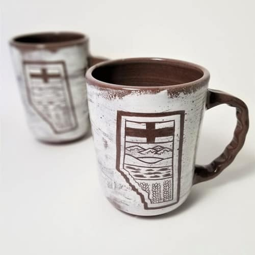 Custom Alberta ceramic coffee mug