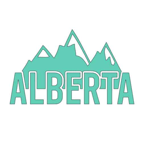 Alberta Mountains Decal