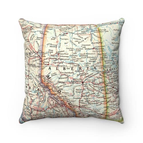 Alberta Map Pillow