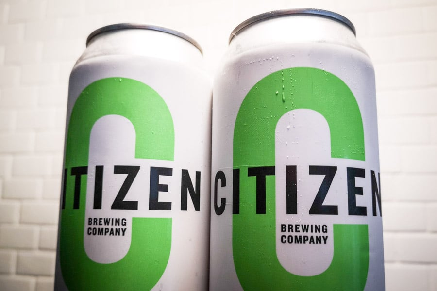 Tall cans of Hijacked IPA from Citizen Brewing Company