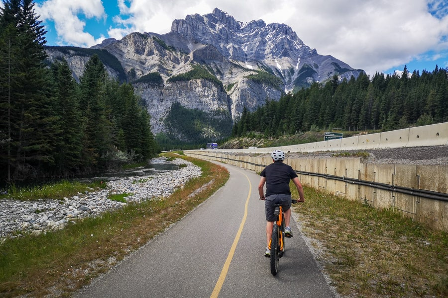 The Legacy Trail connecting Canmore to Banff