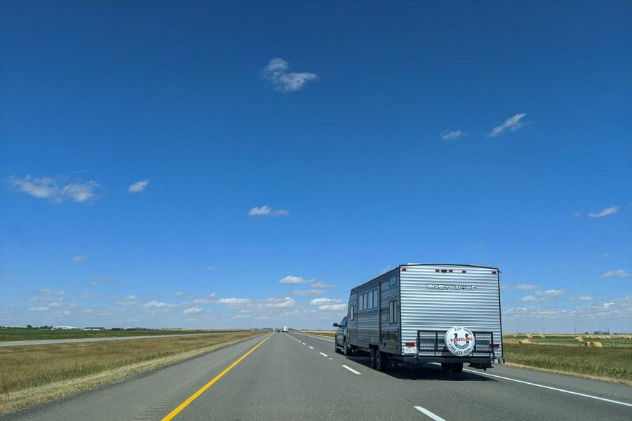 Alberta Highway 2 going to Lethbridge