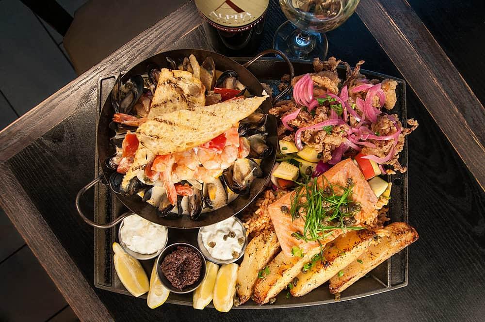 Seafood Platter from Balkan Restaurant Banff