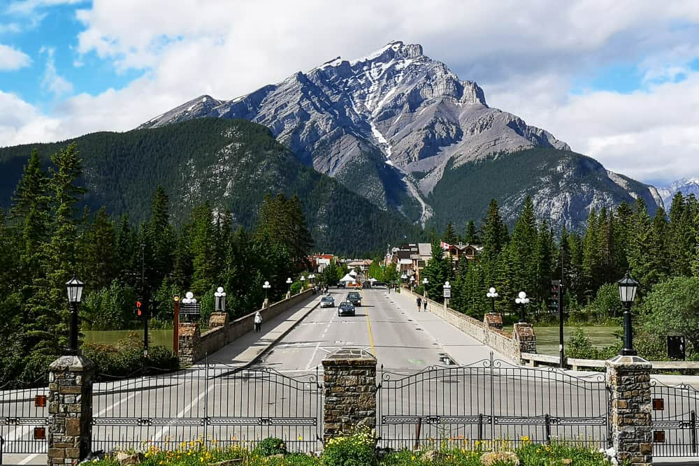 The main street in Banff, Alberta