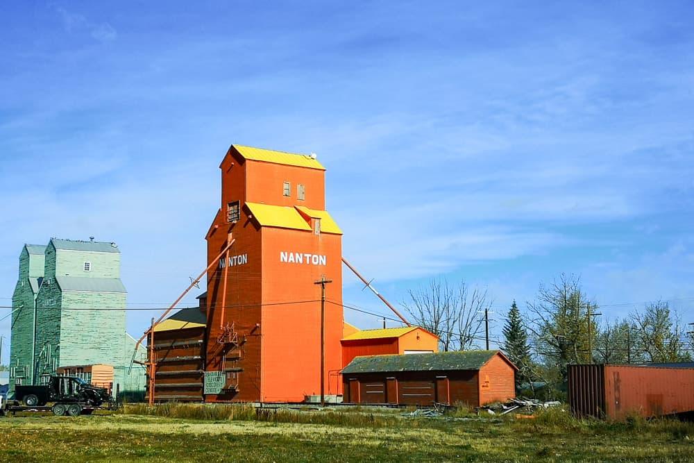 Grain elevator in Nanton, Alberta