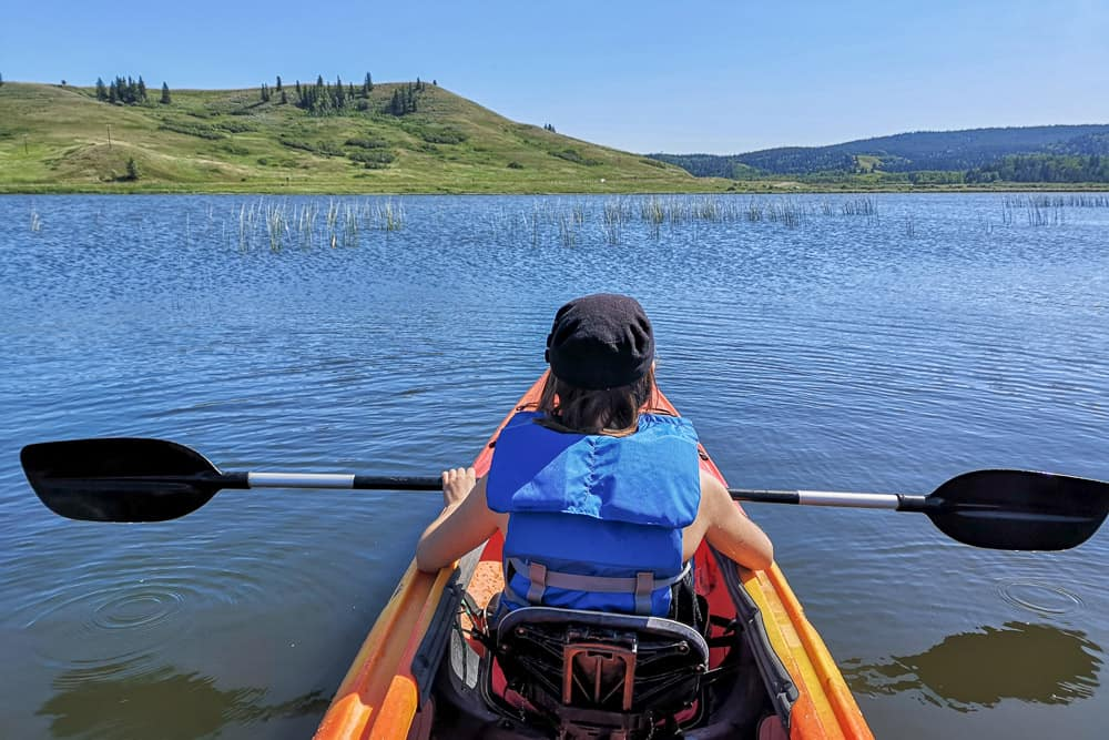 Kayaking in Cypress Hills Alberta