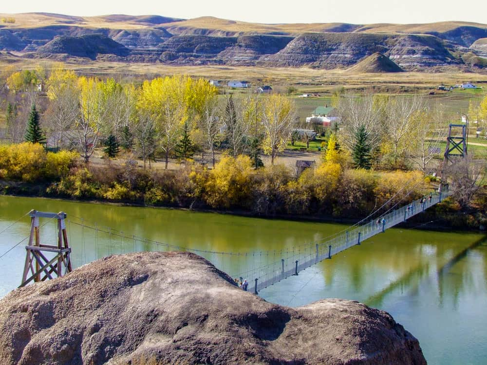 Rosedale Suspension Bridge in Drumheller