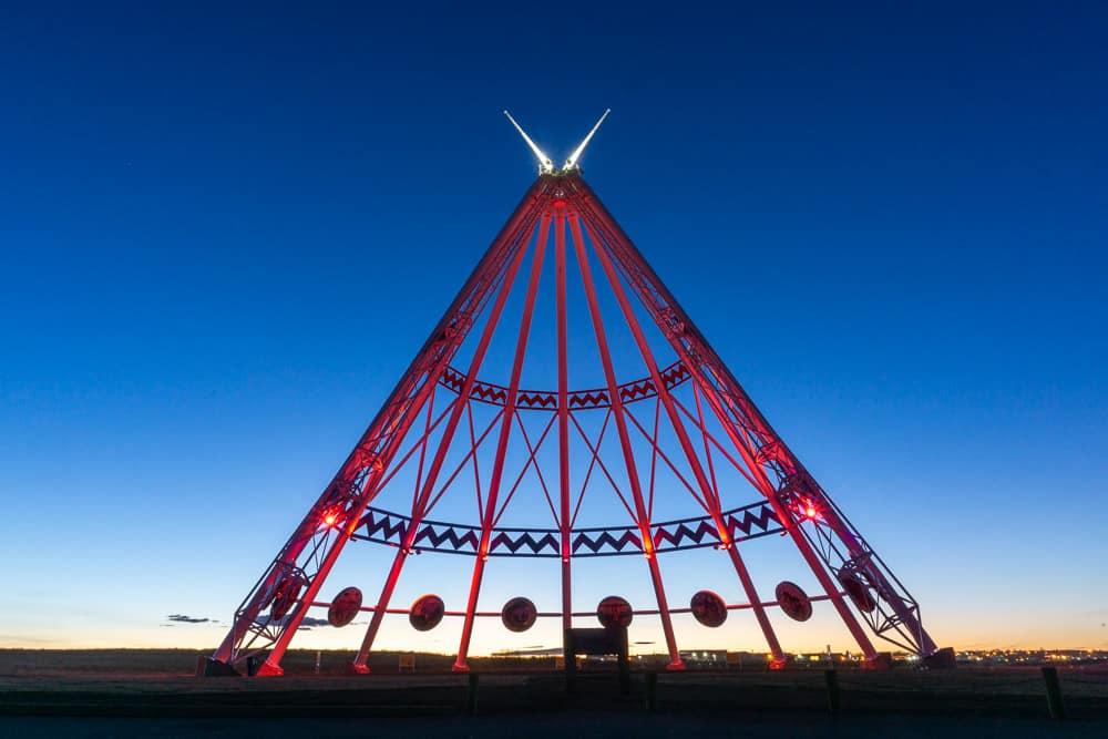 The Saamis Tepee in Medicine Hat, Alberta