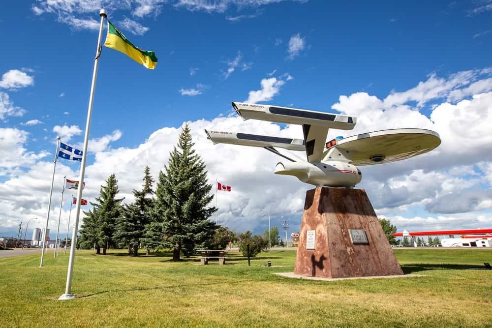 The Starship Enterprise at the Vulcan Museum in Vulcan, Alberta