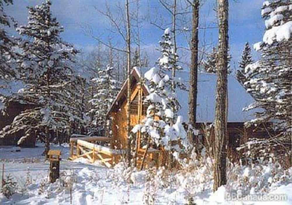 The Gingerbread Cabin in Jasper, Alberta