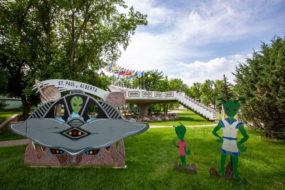 UFO Landing Pad in St Paul, Alberta