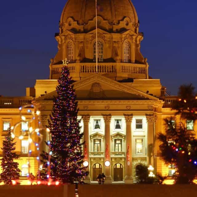 Christmas Lights in Alberta